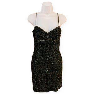 Niteline Della Roufogali Vintage 80s Beaded Dress